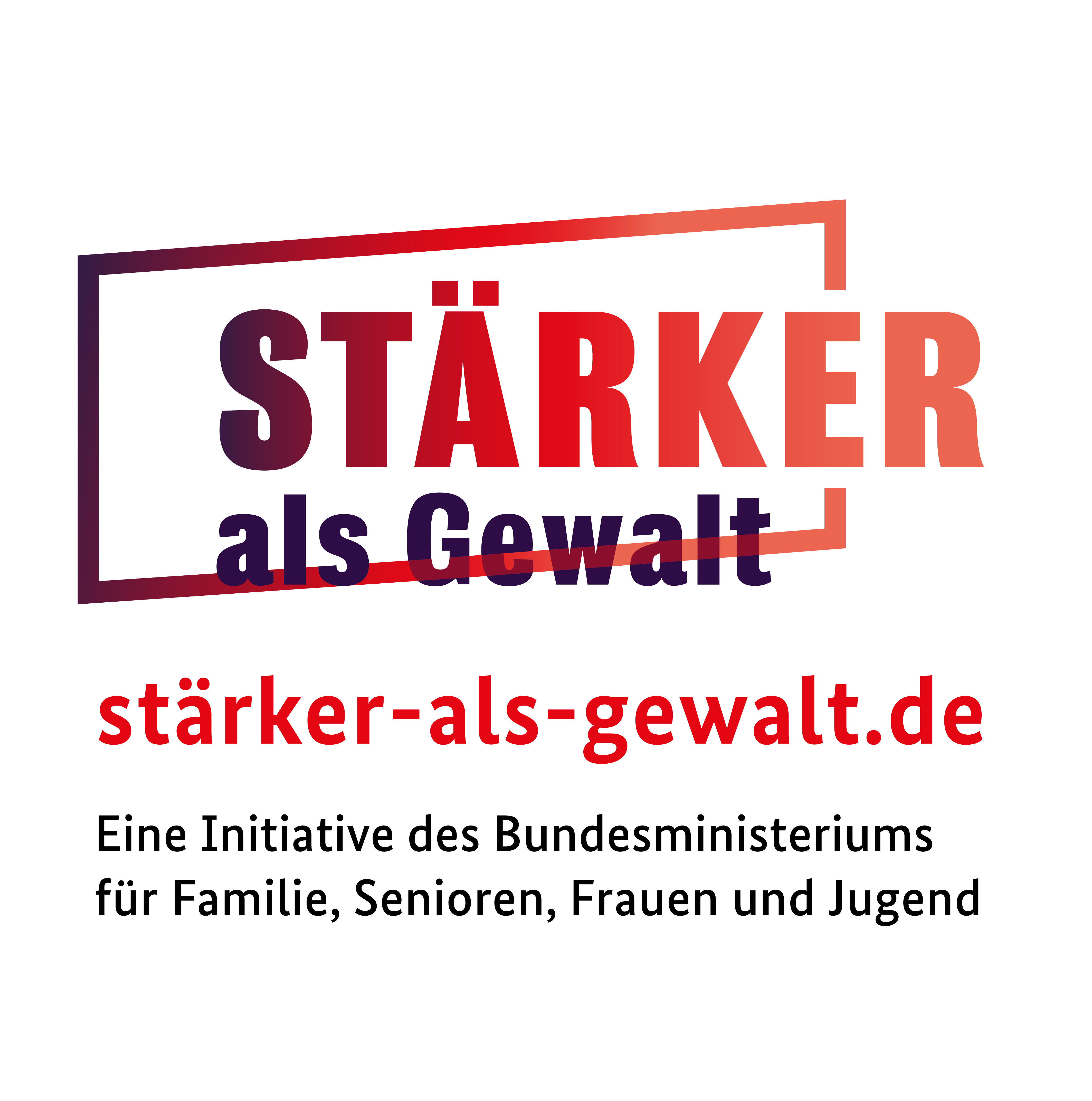 Logo Stärker als Gewalt