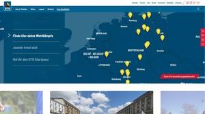 Screenshot von der neu strukturierten Website der Deutschen Triathlon Union. Foto: DTU