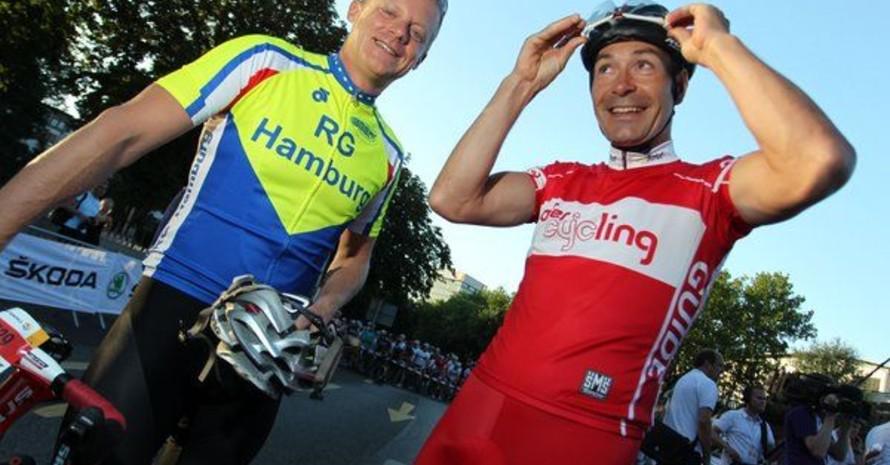 Marc Bator startete mit dem früheren Radprofi Erik Zabel beim Jedermann-Rennen der Hamburg Cyclassics 2012. Foto: picture-alliance
