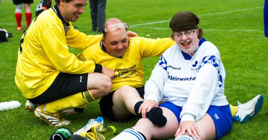 Sportler mit und ohne Handicap bei den Special Olympics in Düsseldorf 2014. Foto: LSB NRW