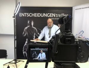 Schatzmeister Torsten Bork während der digitalen Mitgliederversammlung. Foto: LSB Brandenburg