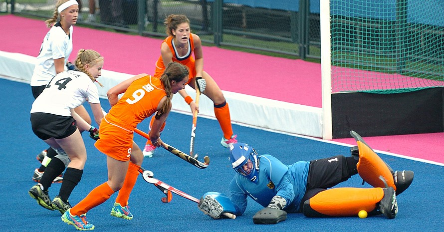 Für die Hockey-Mädels reichte es trotz vollen Einsatzes nicht: Sie schieden im Viertelfinale nach einem 1:8 gegen die Niederlande aus. Alle Fotos: DOSB