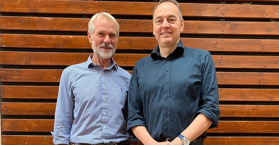 Der neue DRV-Präsident Harald Hees (l.) und der neue Vizepräsident Finanzen Mathias Entenmann Foto: DRV