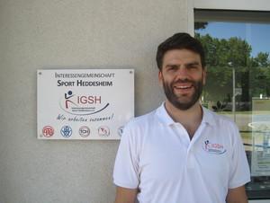 Florian Riegler, Leiter des Servicebüros der IG Sport Heddesheim e.V., Foto: IGSH