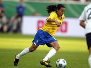 Weltfußballerin Marta und die Brasilianerinnen wollen den WM-Titel. Foto: picture-alliance