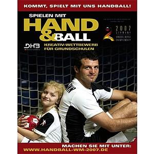 Ein Poster von Nationalspieler Florian Kehrmann liegt dem Info-aket bei. Copyright: DHB