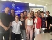 DOSB-Mentess und Mentor*innen zu Besuch im EOC EU-Büro, Foto: DOSB