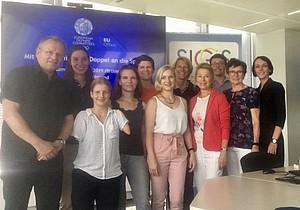 DOSB-Mentess und Mentor*innen zu Besuch im EOC EU-Büro