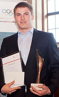 """Tom Liebscher wurde beim Neujahrsempfang des DOSB im Frankfurter Römer als """"Eliteschüler des Sports 2011"""" ausgezeichnet; copyright: picture-alliance/rumpenhorst"""