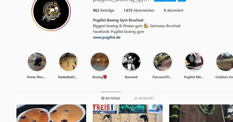 Pugilist Bruschsal in den sozialen Medien