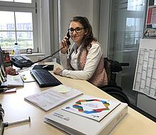 Sina Eghbalpour arbeitet als Sport-Inklusionsmanagerin beim Stadtsportbund Aachen. Foto: Stadtsportbund Aachen