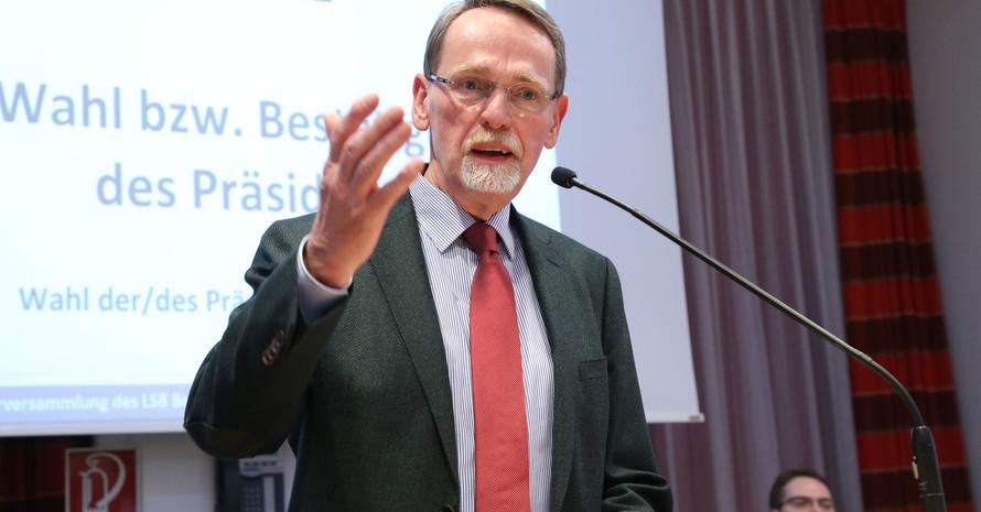Der neue Präsident des LSB Berlin Thomas Härtel. Foto: LSB Berlin