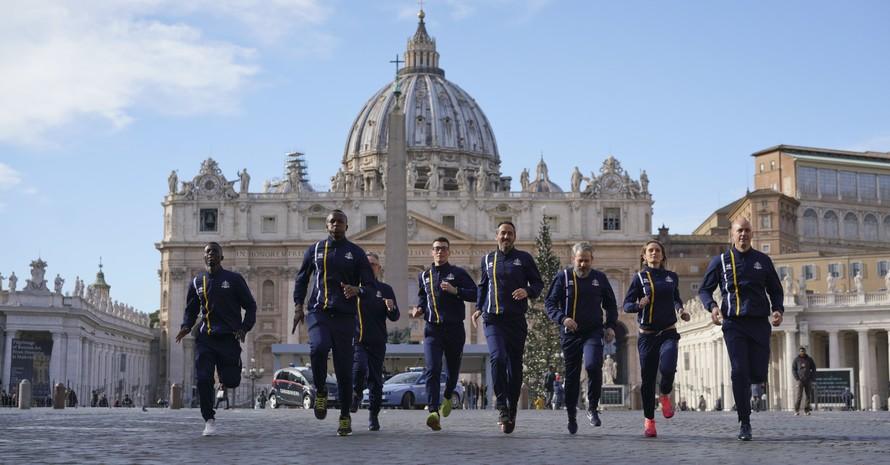 Der Vatikan hat Anfang Januar 2019 ein offizielles Laufteam gegründet. Etwa 60 Mitarbeiter des Heiligen Stuhls sind die ersten akkreditierten Mitglieder der vatikanischen Leichtathletik. Foto: picture-alliance