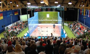 Im Paderborner Ahorn Sport-Park steht der Center Court, wo die Finalisten um den WM-Titel kämpfen werden. Foto: Ahorn Sport-Park