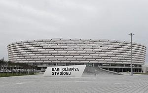 Unter anderem aus dem zentralen Stadion in Baku werden die Kameras von SPORT1 Live-Bilder von den Europaspielen senden. Foto: picture-alliance