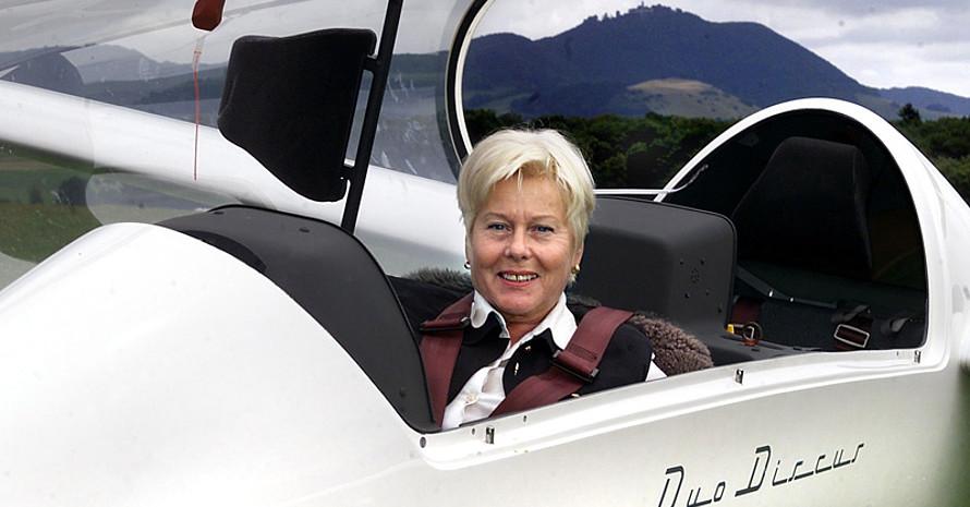 Brigitta Keller ist Segelfliegerin aus Leidenschaft.
