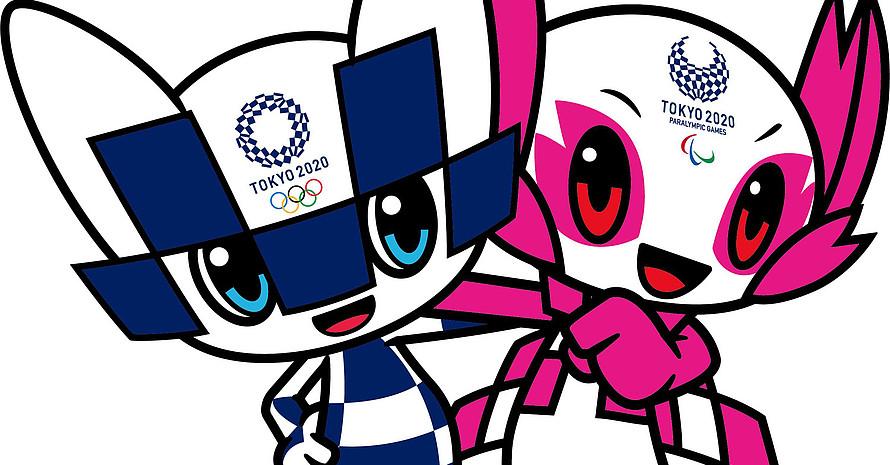 Miraitowa und Someity sind die digitalen Botschafter der Spiele 2020. Copyright: Tokyo2020