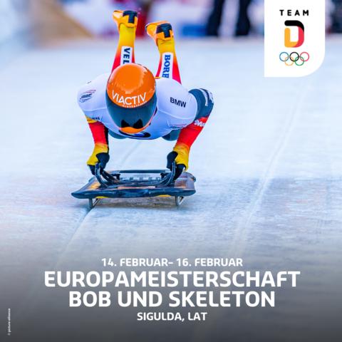 Bob und Skeleton EM in Lettland