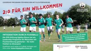 Fußball ist für viele geflüchtete Menschen eine besonders gute Möglichkeit zur Integration. Foto: DFB-Stiftung Egidius Braun