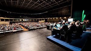 Die Hauptversammlung des DAV in der Stadthalle Bielefeld. Foto: DAV/Nils Noell