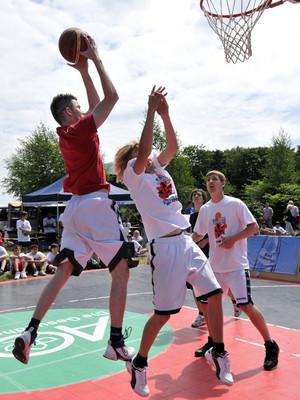 Auch die Herner Basketballer waren beim Festival des Sports für ihre Stadt aktiv und sammelten so wichtige Bewegungspunkte.