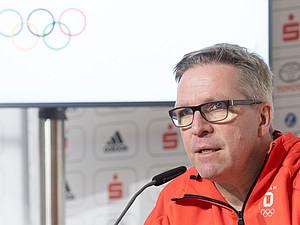 Dirk Schimmelpfennig, Chef de Mission in Korea, bei einer Pressekonferenz im Deutschen Haus. Foto: picture-alliance