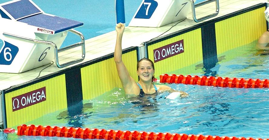 Auch Schwimmerin Katrin Demler konnte sich über Bronze freuen.