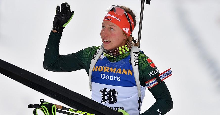 Auf Wiedersehen Laura Dahlmeier! Die Biathletin beendet im Mai 2019 ihre außergewöhnliche Sportlaufbahn. Foto: picture-alliance