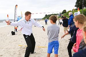 Begleitet die Sportabzeichen-Tour zum zehnten Mal: Frank Busemann (Foto: Treudis Naß)