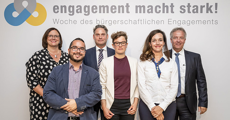 "Engagement-Botschafter*innen der Kampagne ""Engagement macht stark!"" Foto: BBE"