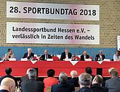 270 Delegierte kamen zum Sportbundtag des Landessportbundes Hessen zusammen, um über die Zukunft des Sports in Hessen zu beraten. Foto: Landessportbund Hessen