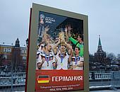 Russland wirbt mit dem Weltmeister von 2014 für die WM im eigenen Land. Foto: picture-alliance