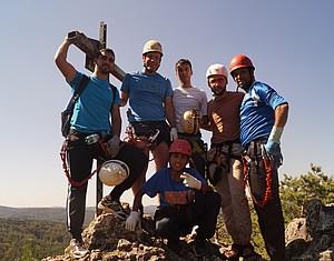 Ausflug zum Klettersteig. Foto: Neidl