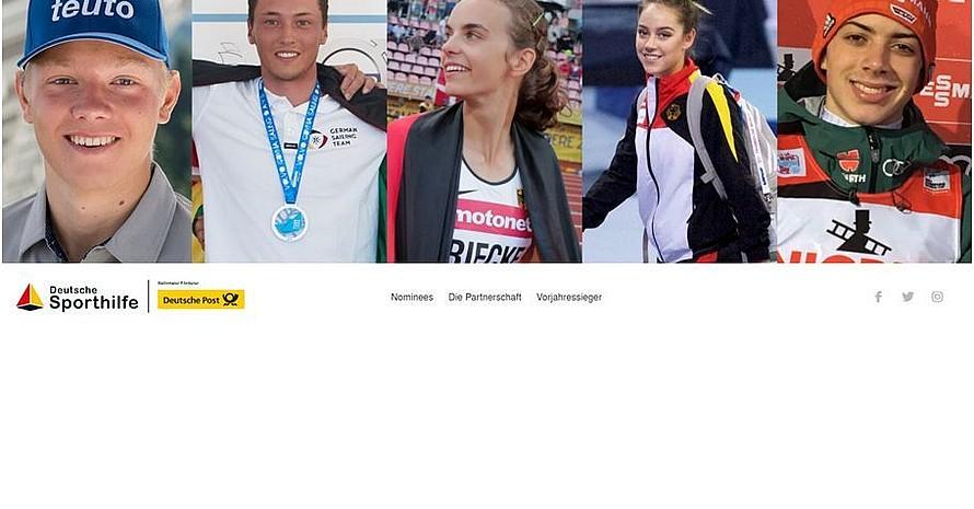 """Fünf Juniorenweltmeister stehen ab sofort zur Wahl des """"Juniorsportler des Jahres"""". Foto: Screenshot von der Website"""