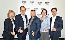 Foto: Gudrun Doll-Tepper, Alfons Hörmann, Mark Solomeyer, Veronika Rücker und Sven Albrecht (v.l.).