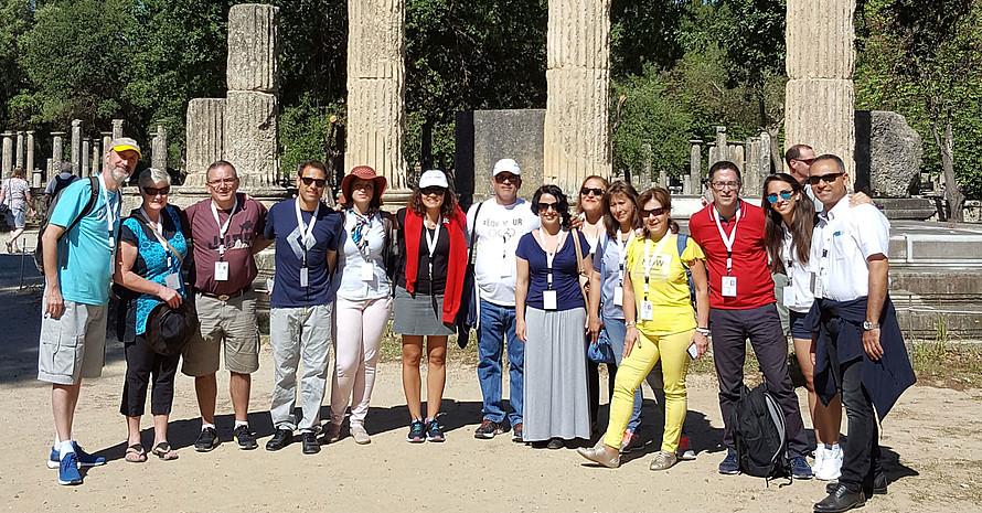 Ein Highlight der Session ist der Besuch der Ausgrabungsstätte des antiken Olympia. Foto: DOA
