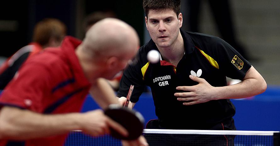 Ein Spiel, bei dem es um nichts mehr ging. Dimitrij Ovtcharov im Doppel gegen Österreich. Foto: picture-alliance