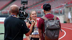 In vielen Ländern steckt Frauensport noch in der Nische: Interview mit der Leichtathletin Gina Lückenkemper. Foto: picture-alliance