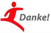 """Das Danke-Logo der Initiative """"Sport braucht dein Ehrenamt."""" von DOSB und Commerzbank"""