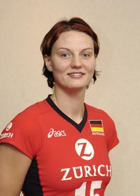 Angelina Grün, Deutschlands erfolgreichste Volleyballerin (Foto: Bongarts).