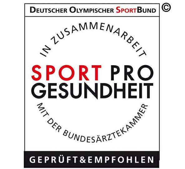 Qualitativ hochwertige gesundheitsorientierte Sportangebote werden mit dem Qualitätssiegel SPORT PRO GESUNDHEIT ausgezeichnet
