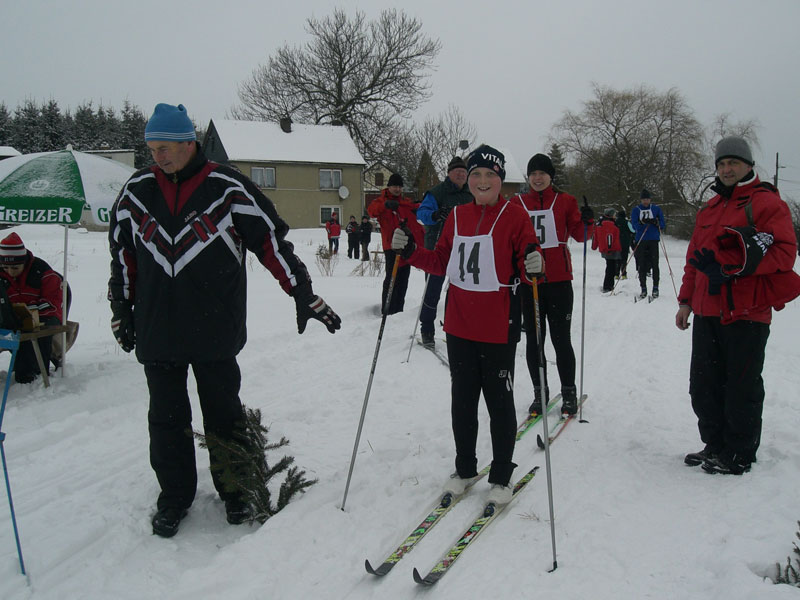 """Vereinswettkampf Ski-Langlauf-Am Start""(Foto:Karina König)"