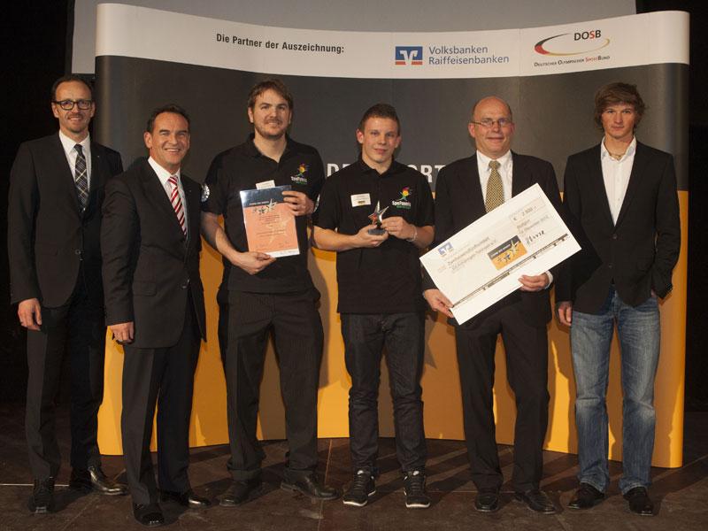 Glückliche Sieger in Baden-Württemberg (Quelle: Baden-Württembergischer Genossenschaftsverband)