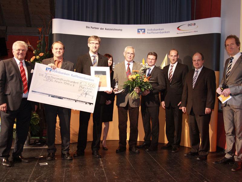 Die Landessieger von 2011: Die SPVG Ahorn 1910 e.V. (Foto: Genossenschaftsverband Bayern e.V.)