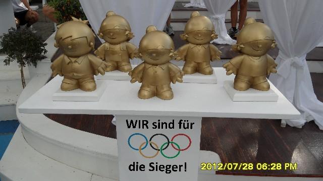 """Statt Medaillen gab es für die Sieger """"Goldene Mainzelmännchen"""". (Foto: Werner Müller)"""