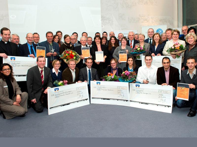 """Glückliche Gewinner bei den """"Sternen des Sports"""" 2012 in Silber in Nordrhein-Westfalen (Quelle. Andrea Bowinkelmann)"""