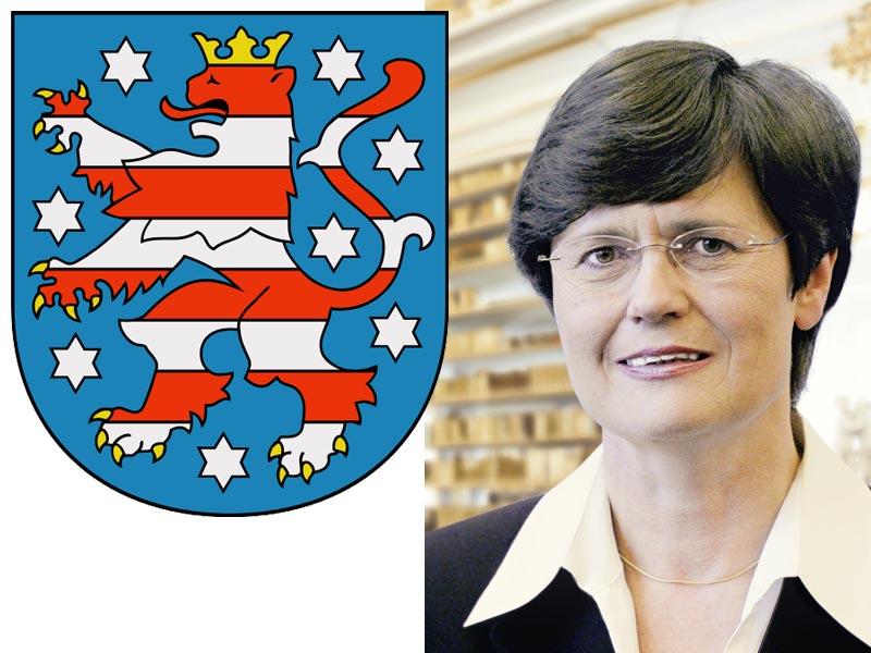 Ministerpräsidentin Christine Lieberknecht liebt die Natur, geht gerne Wassertreten und freut sich über das breite ehrenamtliche Engagement in Thüringen. (Foto:Thüringer Staatskanzlei)