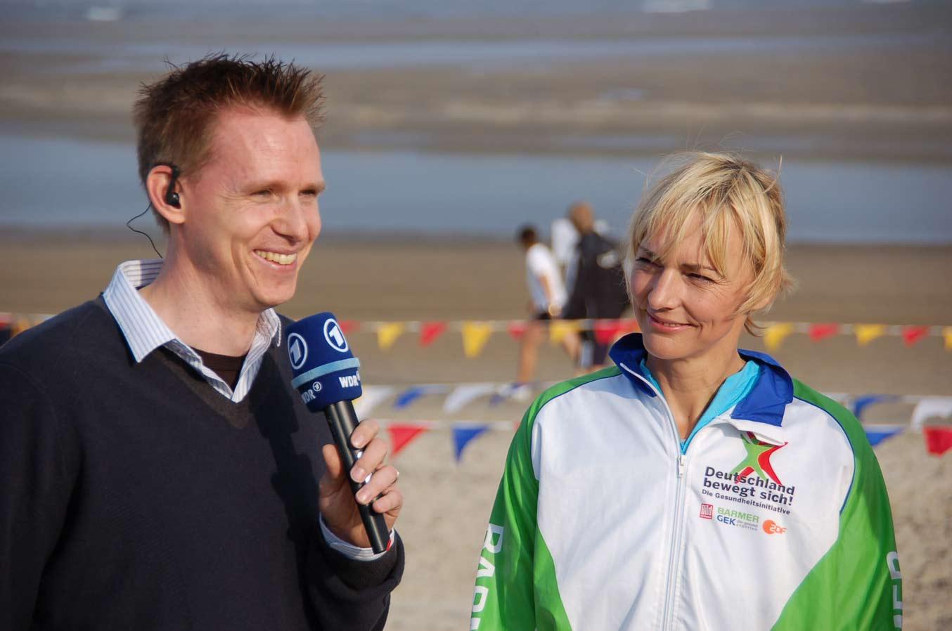 Sind auch in diesem Jahr wieder bei der Sportabzeichen-Tour dabei: Frank Busemann und Heike Drechsler. Foto: Deutsches Sportabzeichen