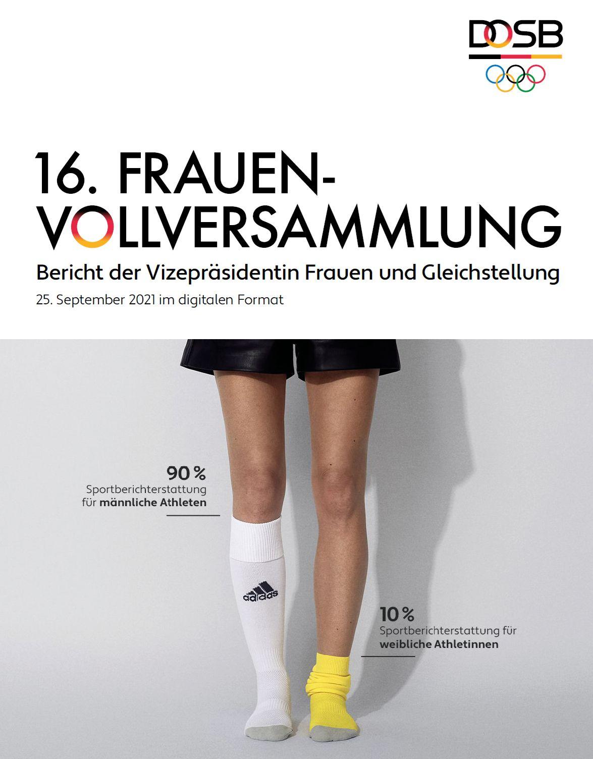 1. Titelseite des Berichtes der 16. Frauenvollversammlung