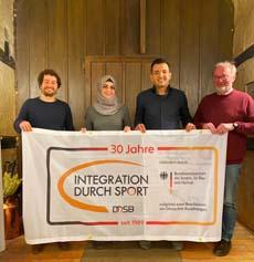 Von links: Sebastian Reiter, Yasmen Aladawi, Bahaa Mohammad, Reinhard Schröder